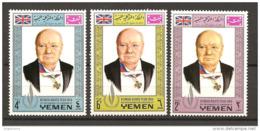 YEMEN REGNO - 1968 WINSTON CHURCHILL Politico E Primo Ministro Inglese 3v. Nuovi** MNH - Altri