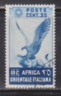 ITALIAN EAST AFRICA Scott # 9 Used  - Bird - Italian Eastern Africa