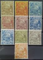 NOUVELLE CALÉDONIE 1905/28 - MLH - YT 94, 95, 98, 99, 101, 117, 119, 120, 121, 122 - Neukaledonien