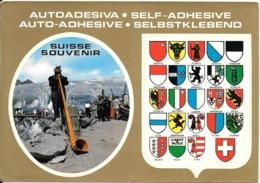 CARTE -AUTOCOLLANT-SUISSE-ECUSSONS-REGIONS-Edit ALPHA-TBE - Stickers