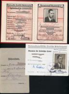 RRR !  Parteibuch + Ausweise NSDAP  Pol. Leiter Ausland Lissabon Portugal  Kulturamtsleiter , SELTEN ! Gucken ! NAZI ! - 1939-45