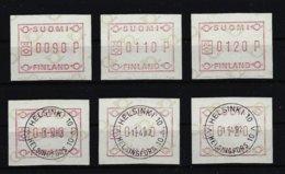 Finnland ATM Nr.1* Und Gestempelt S1 Satz Mit 3 Wertstufen - Vignettes D'affranchissement (ATM/Frama)