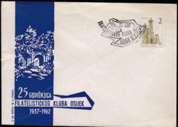 Yugoslavia Croatia Osijek 1962 / 25 Years Of Philatelic Club / 25 Godina Filatelističkog Kluba Osijek - Philately & Coins