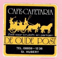 Sticker - Café Cafetaria - DE OUDE POST - St.HUBERT - Stickers