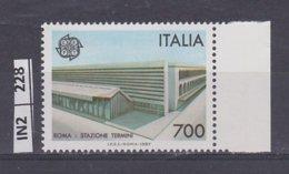 ITALIA   1987Europa L. 700  Nuovo - 6. 1946-.. República