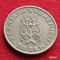 Brunei 20 Sen 1981 KM# 18 *V2 - Brunei