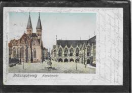 AK 0339  Braunschweig - Altstadtmarkt / Halt-gegen-das-Licht-Karte Um 1901 - Braunschweig