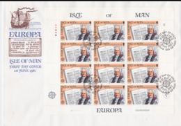 Isle Of Man 1982 FDC Europa CEPT Complete Sheet (L58-16) - Europa-CEPT