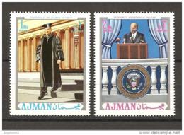 AJMAN - Presidente Americano EISENHOWER 2V. NuovI** MNH - Celebrità