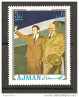 AJMAN - 2 Presidenti Americani NIXON Ed EISENHOWER Nuovo** MNH - Celebrità