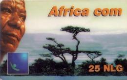 HOLANDA (PREPAGO). Africa Com (blue, Gnanam Logo Left). 12/01. PRE-NL-1516B. (021). - Nederland