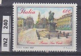 ITALIA   1987Piazze D'Italia L. 600 Nuovo - 6. 1946-.. República