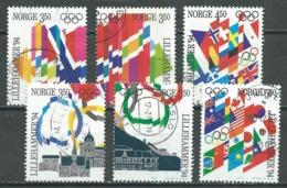 Norvège YT N°1100/1103 Et 1104/1105 Jeux Olympiques D'hiver Lillehammer 1994 Oblitéré ° - Norvège