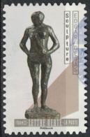 France 2019 Oblitéré Used Le Nu Dans L'Art Sculpture Edgar Degas SU - France