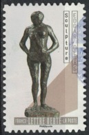 France 2019 Oblitéré Used Le Nu Dans L'Art Sculpture Edgar Degas SU - Gebruikt