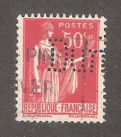 Perforé/perfin/lochung France No 283 Dun. R.G. Dun Et Cie (106) - Gezähnt (Perforiert/Gezähnt)