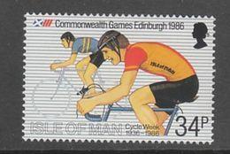 TIMBRE NEUF DE L'ILE DE MAN - CYCLISME (JEUX DU COMMONWEALTH) N° Y&T 296 - Cycling