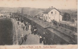 57 - NOUILLY - LA GARE LE 4.10.1908 - Other Municipalities