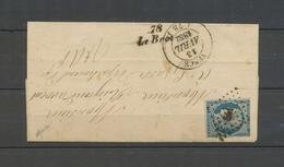 1852 Lettre 25c N°4 Obl PC, Cursive 78/Le Broc + C 14 Vence, Rare, TB X5135 - Marcophilie (Lettres)