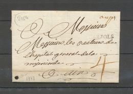 1773 Lettre VAR, Aups Manus. + BARJOLS, Marque Double, Superbe X5136 - Storia Postale