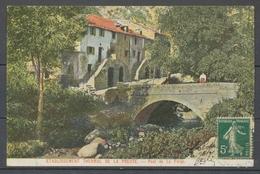 CP La Preste/Pyrénées Orientales, Càd Télégraphique Bleu, Superbe X5143 - Postmark Collection (Covers)