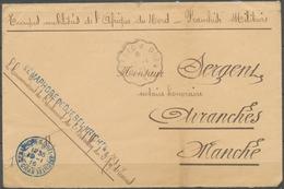 1916 Env. SEMAPHORE DE DJEBEL-KRICHTEL, Griffe Linéaire, Obl Càd X5147 - Postmark Collection (Covers)