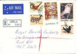 Australia Registered Uprated Postal Stationery Cover Cairns 7-4-1981 Sent To The Royal Danish Embassy - 1980-89 Elizabeth II