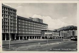 1955 VENEZUELA  , TARJETA POSTAL CIRCULADA - CARACAS , AVENIDA BOLIVAR - Venezuela