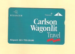 "PHONECARD - BELGIUM BELGACOM P 447 ""CARLSON WAGONLIT TRAVEL"" 605L - EX: 2.000 - MINT/NOT USED - Bélgica"