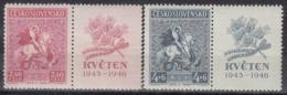 CZECHOSLOVAKIA 490-491,unused - Stamps