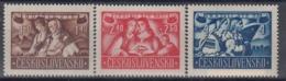 CZECHOSLOVAKIA 505-507,unused - Stamps