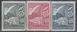 CZECHOSLOVAKIA 512-514,unused,falc Hinged - Stamps