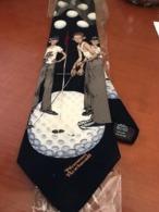 Brand New Novelty Golf Norman Rockwell Necktie - Vintage Clothes & Linen
