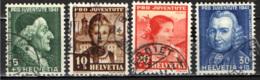 SVIZZERA - 1941 - PRO JUVENTUTE - LAVATER, RICHARD E COSTUMI CANTONALI - USATI - Suisse