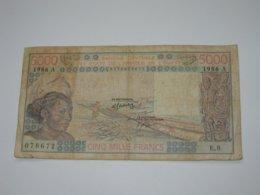 5000 Francs 1986 - COTE D'IVOIRE  - Banque Central Des états De L'Afrique De L'ouest   **** EN ACHAT IMMEDIAT **** - Costa D'Avorio