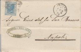 Girgenti. 1874. Annullo  Numerale Piccolo Cerchio A Punti , Su Lettera Affrancata Completa Di Testo - Marcofilía