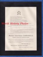 Document Ancien De 1914 - NANCY - Emile Nicolas CHAMPIGNEULLE - Percepteur Honoraire Des Contributions Directes - Avvisi Di Necrologio