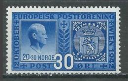 Norvège YT N°245 Congrès Postal Européen Neuf/charnière * - Nuovi