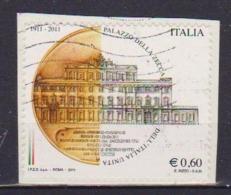 ITALia 2011 PALAZZO DELLA ZECCA SASS. 3285   USATO VF SU FRAMMENTO - 6. 1946-.. Repubblica
