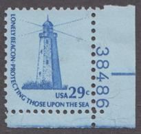 USA 1978. Scott 1605. Plate Single #38486. Sandy Hook Lighthouse, NJ. Neuf, MNH - Neufs