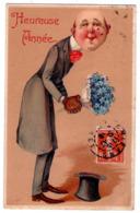 "5880 - Cp Humoristiquie ( Chromo Gaufré ) De Nouvel-An "" Heureuse Année "" - Série 9732 - ( Illustr. Non Signé ) - - Anno Nuovo"