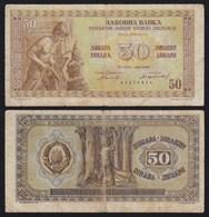 Jugoslawien - Yugoslavia 50 Dinara 1946 F (4) Pick 64a  (21346 - Joegoslavië