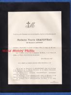 Document Ancien De 1914 - BAR LE DUC (Meuse) - Marguerite ARSTROFF , Veuve GRANDVEAU - 2 Place Saint Pierre - Avvisi Di Necrologio