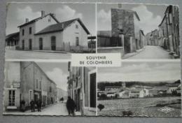 34    -     SOUVENIR DE COLOMBIERS @ CPSM VUE RECTO/VERSO AVEC BORDS - France