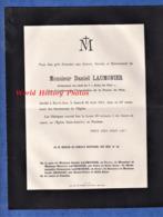 Document Ancien De 1914 - BAR LE DUC (Meuse) - Monsieur Daniel LAUMONIER Rédacteur En Chef  L' Echo De L' Est - Journal - Avvisi Di Necrologio
