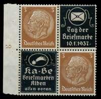 DEUTSCHES REICH ZUSAMMENDRUCKE Nr P-V8 Postfrisch VIERE X8B0336 - Zusammendrucke