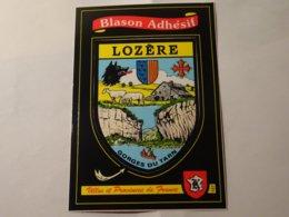 Carte Blason écusson Adhésif Autocollant Coat Of Arms Lozère - Obj. 'Souvenir De'