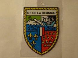 Blason écusson Adhésif Autocollant Coat Of Arms Sticker Ile De La Réunion - Obj. 'Souvenir De'