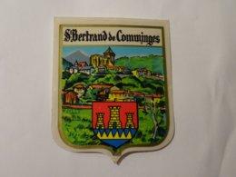 Blason écusson Adhésif Autocollant Coat Of Arms Saint Bertrand De Comminges - Obj. 'Souvenir De'