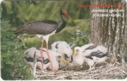 LITHUANIA(chip) - Bird, Black Stork, 08/02, Used - Lituanie